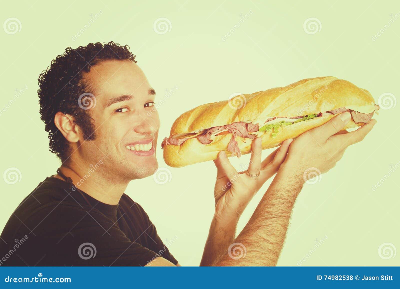 Sandwich die de Mens eten