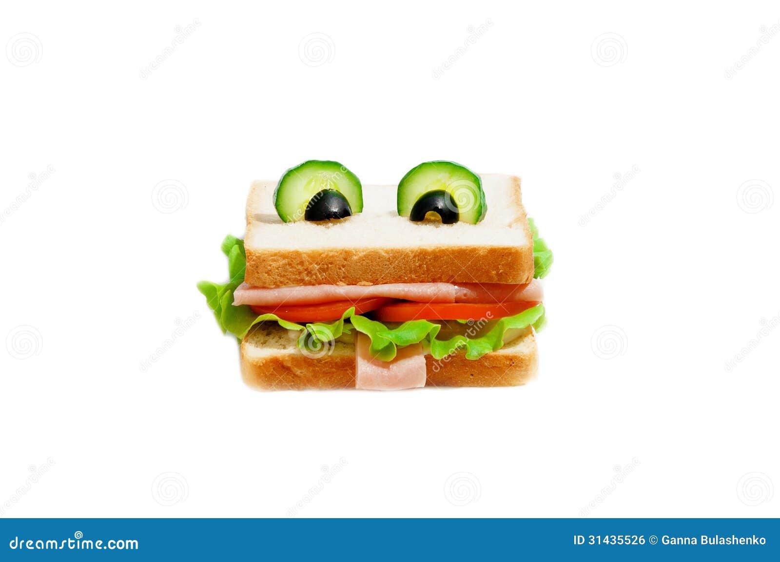 sandwich dr le pour l 39 enfant image libre de droits image 31435526. Black Bedroom Furniture Sets. Home Design Ideas