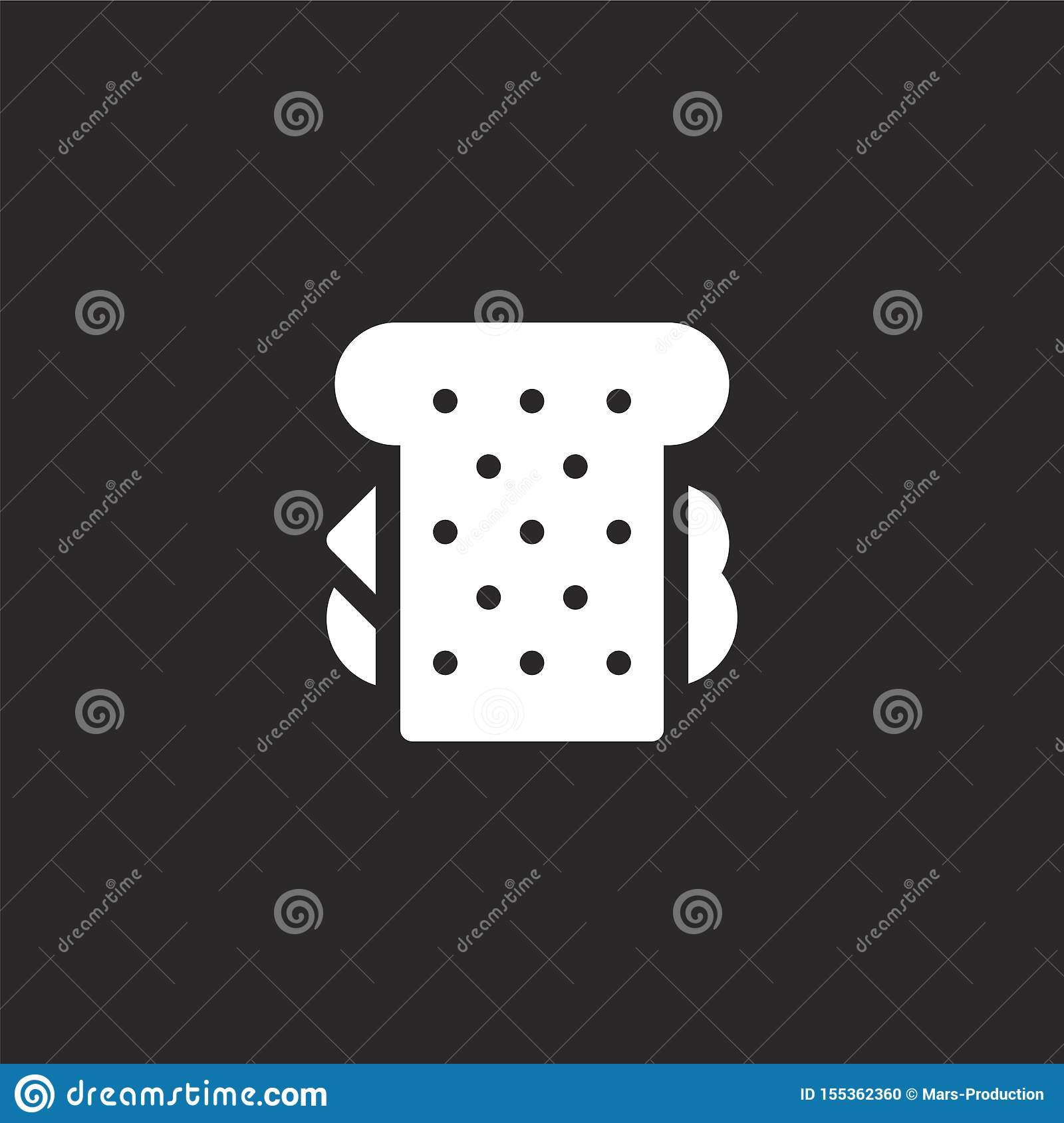 sandwich icon. Filled sandwich icon for website design and mobile, app development. sandwich icon from filled summer food and