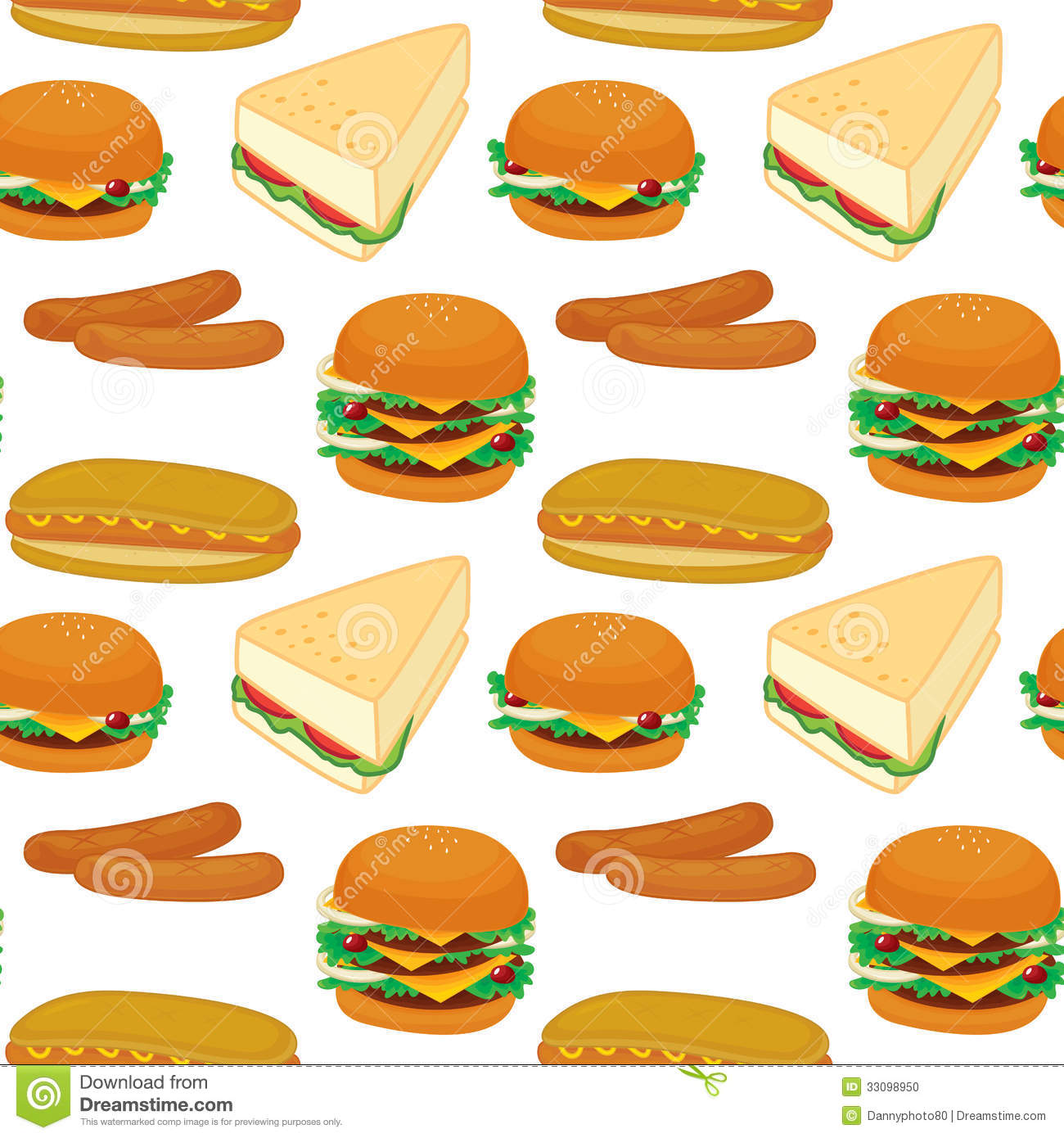 Illustration of a sandwich on a white background.