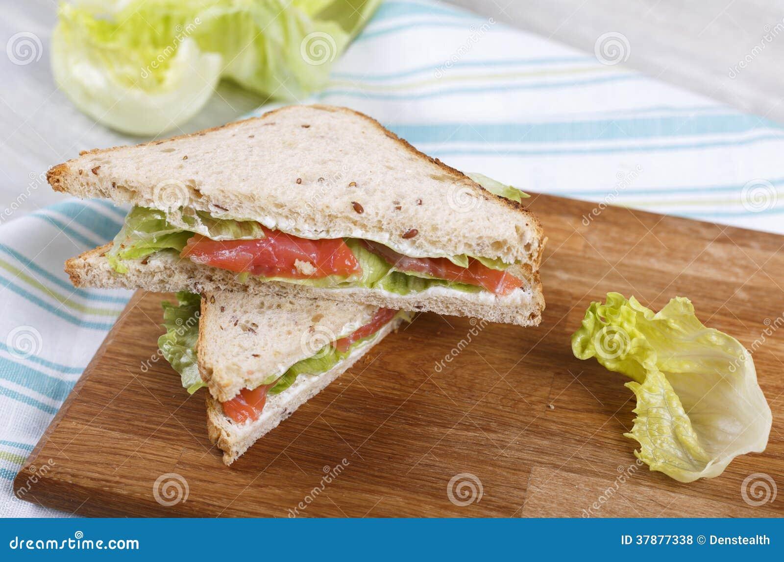 Sandwich met een zalm