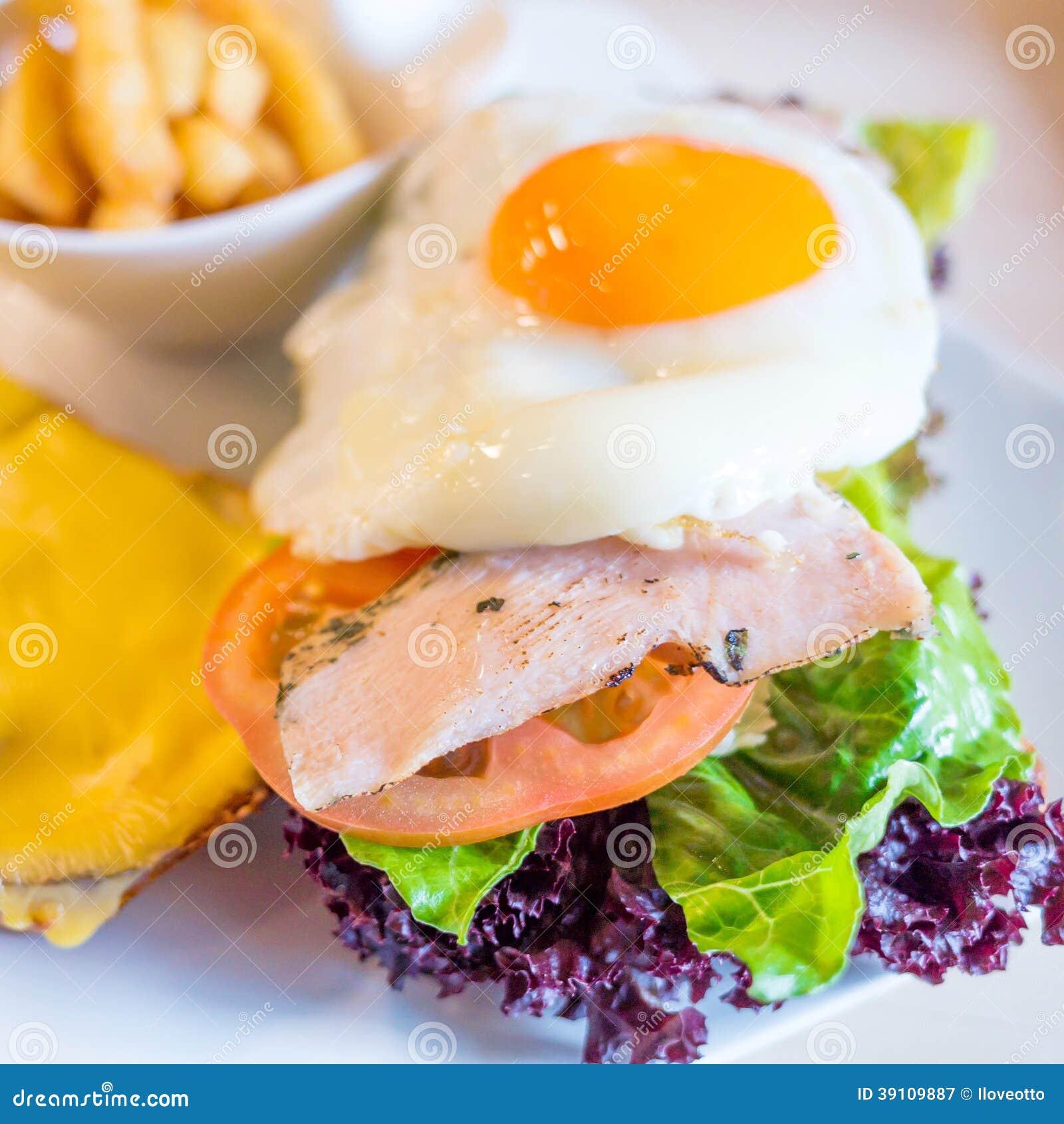 Sandwich met kip,