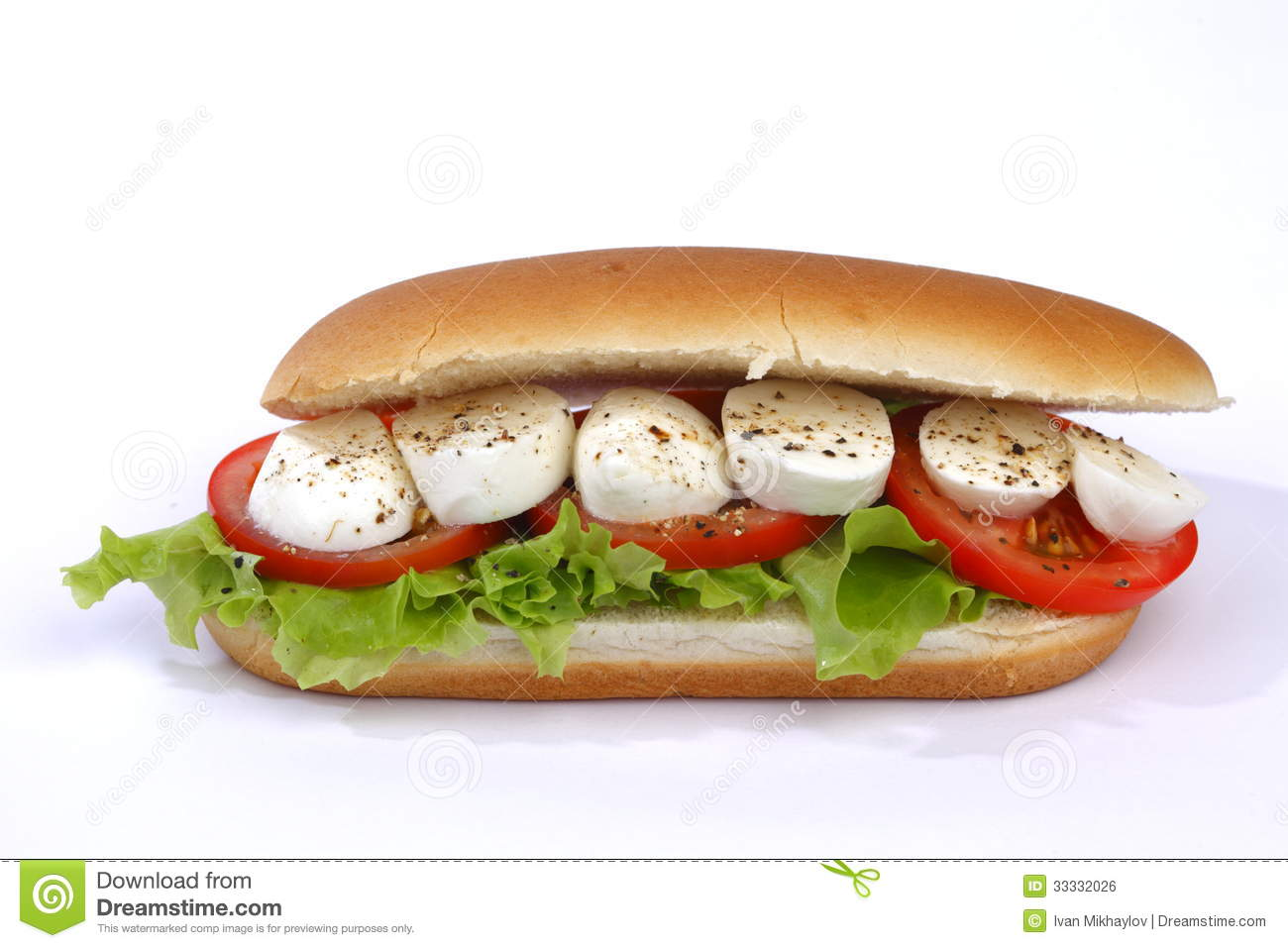 Sandwich With Mozzarella Royalty Free Stock Image - Image: 33332026