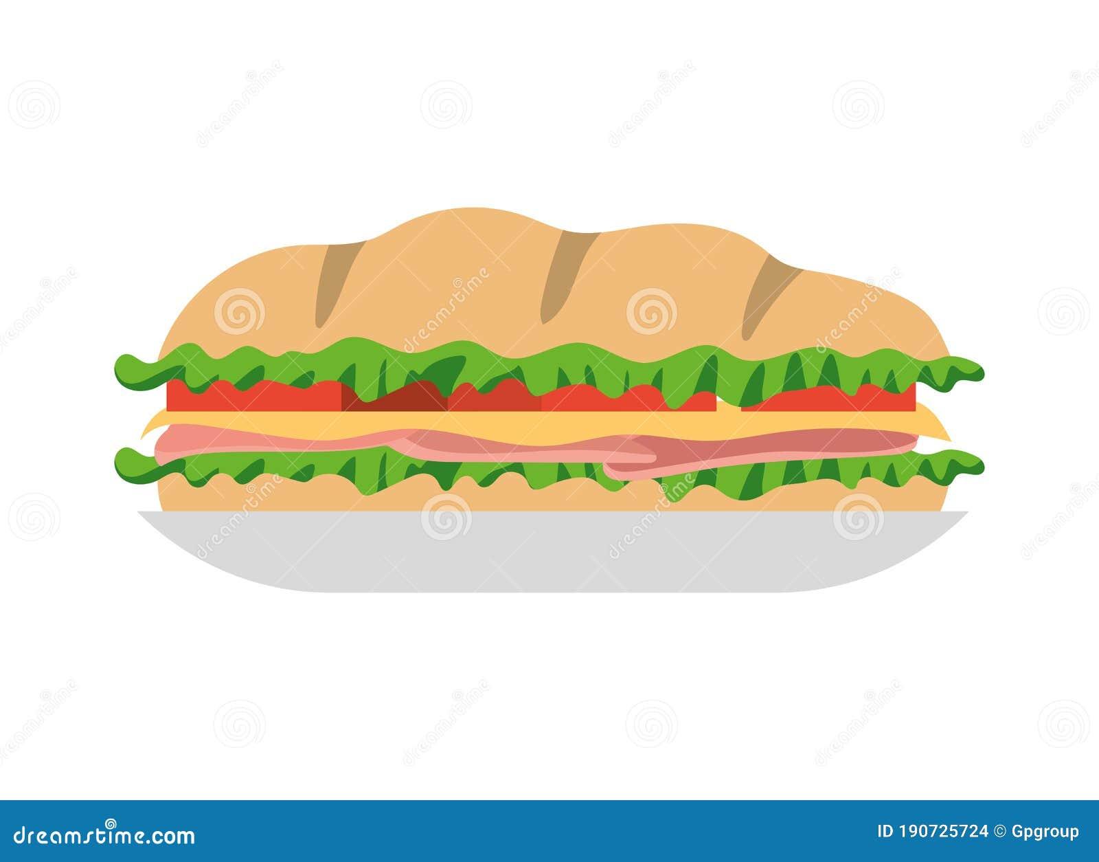 Sandwich On Plate Vector Design Stock Vector Illustration Of Design Dining 190725724