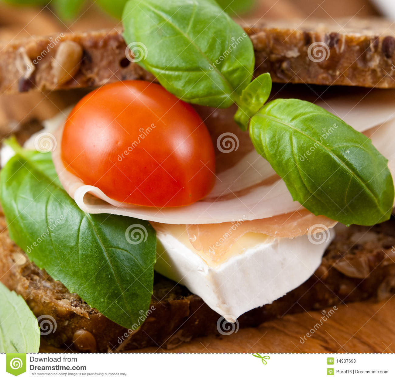 Sandwich With Prosciutto And Brie Royalty Free Stock ...