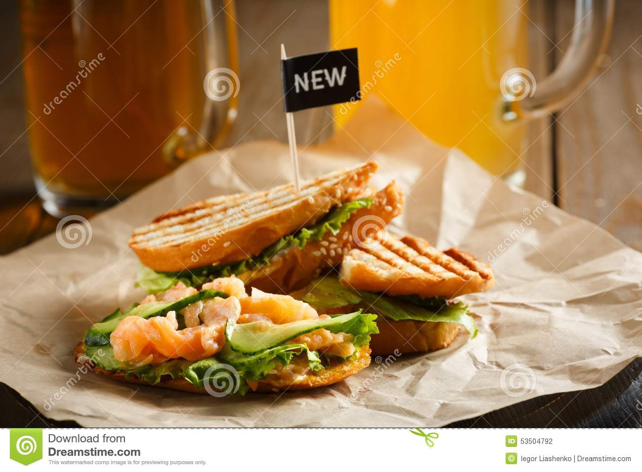 Food stand with fish sandwich stock photo cartoondealer for Fish fast food near me