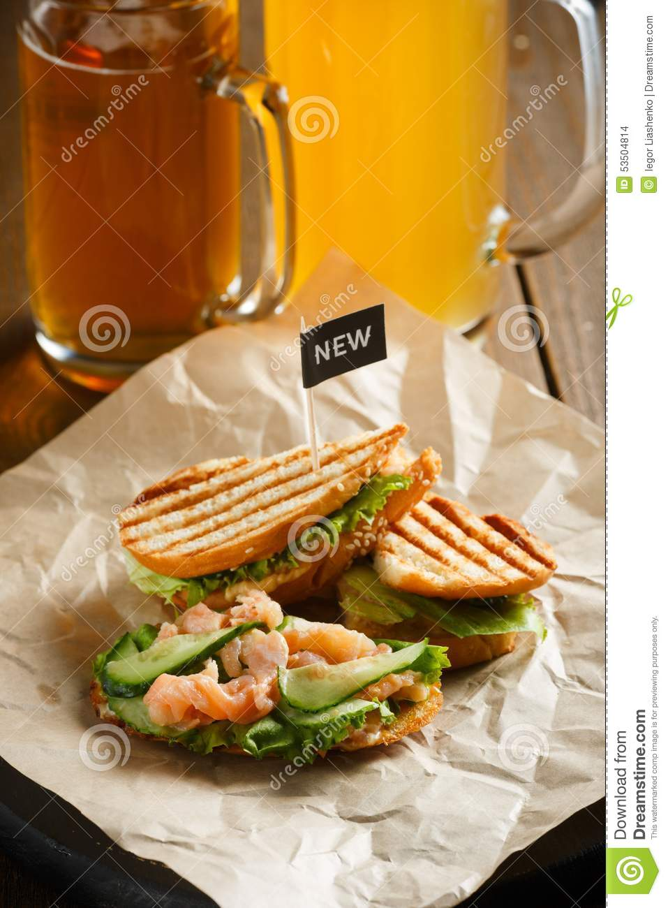 Food stand with fish sandwich stock photo cartoondealer for Best fish sandwich near me