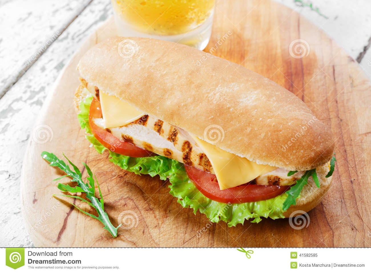 Grilled Cheese And Tomato Sandwich Stock Photography ...