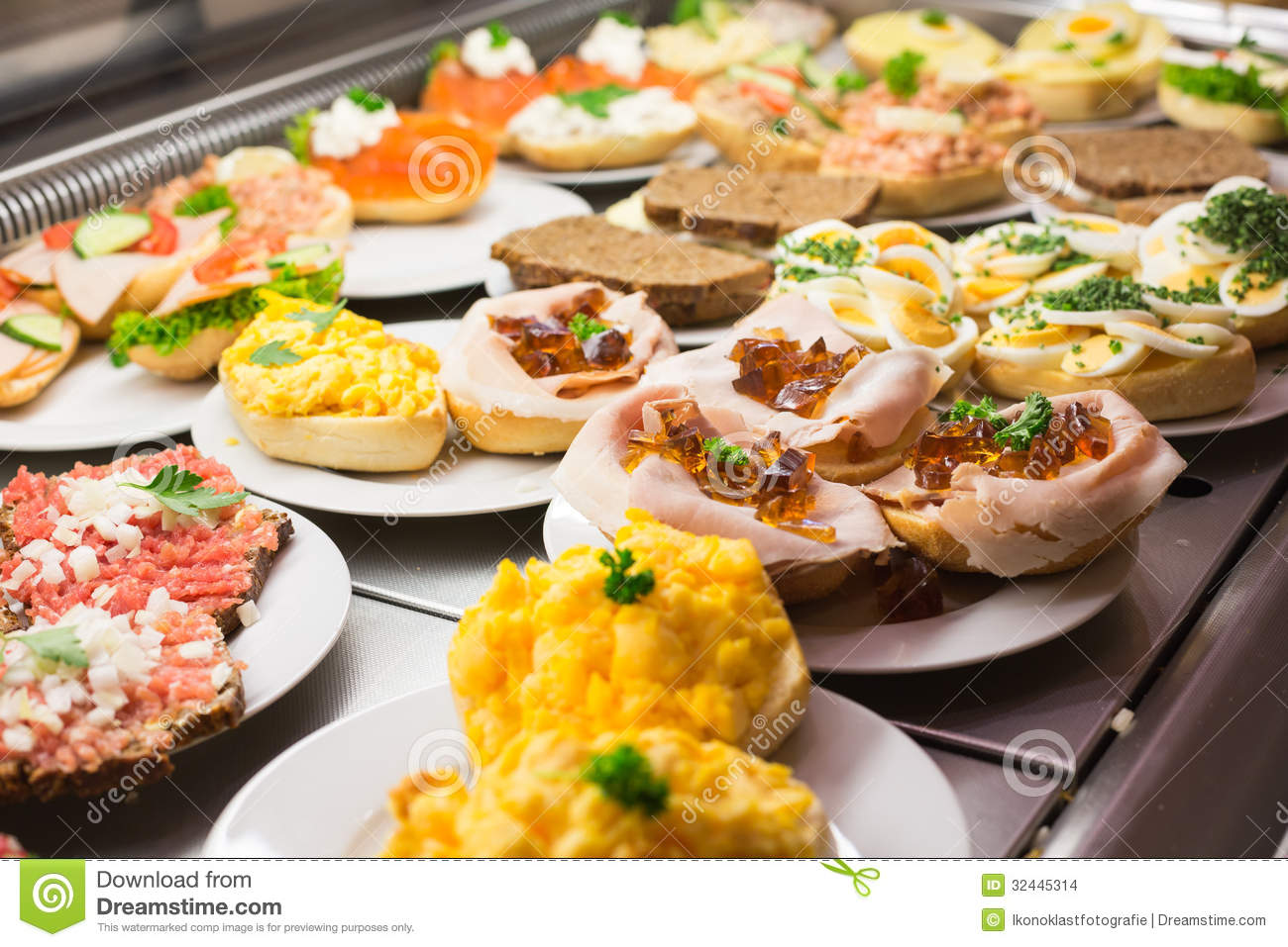 Sandwiches With Cold Cuts On A Tray Stock Photo Image Of Pastry Cuisine 32445314