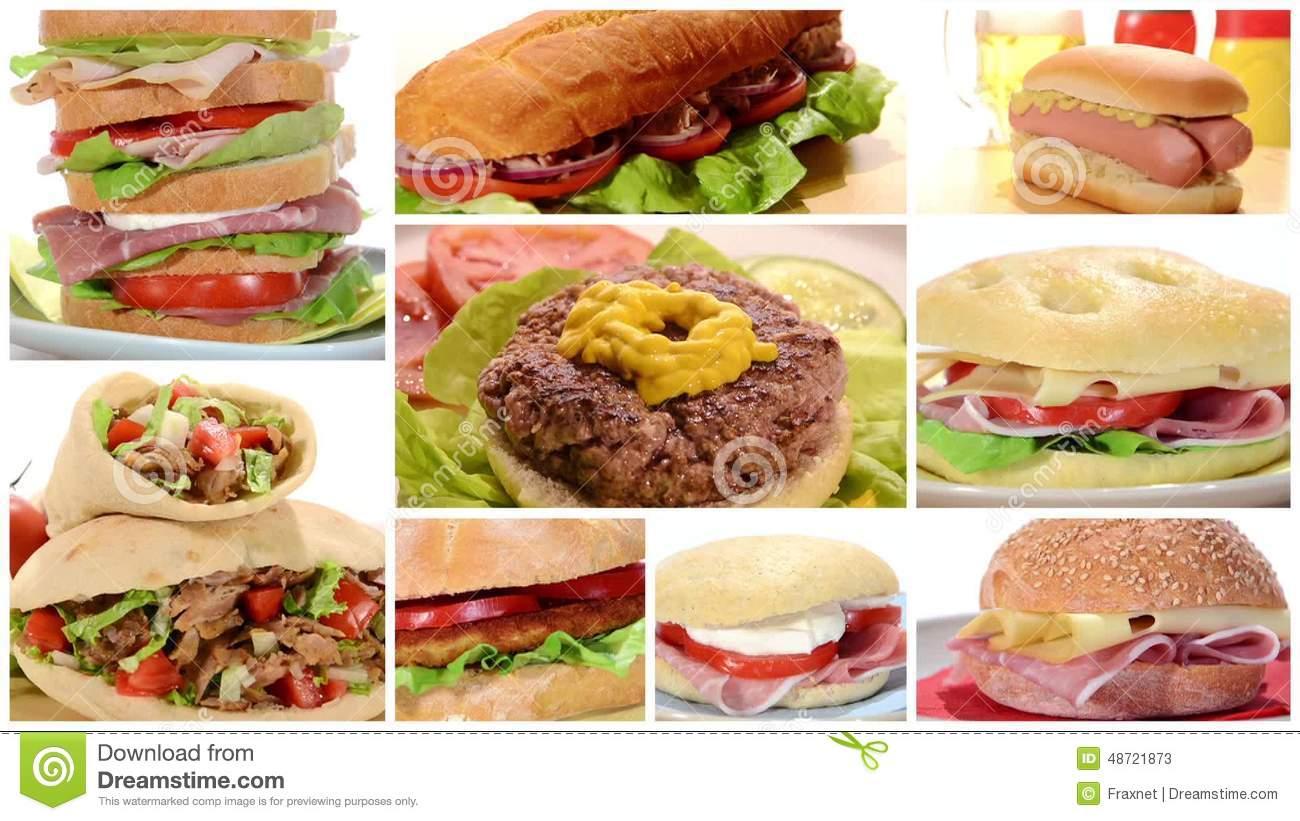 Sandwiches Composition Stock Video - Video: 48726977