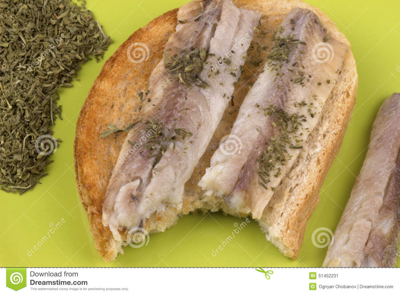 Sandwiches with fish fillet on toast stock image image for Homemade fish food
