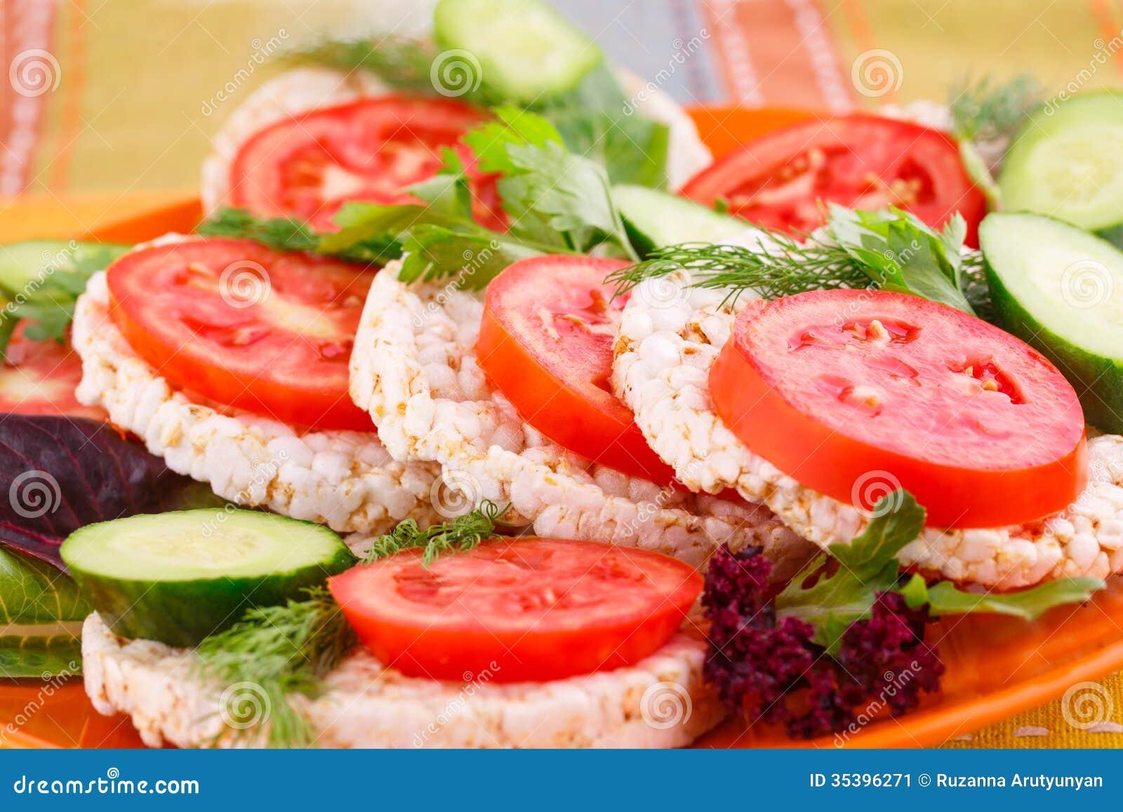 Sandwichs soufflés à biscuits de riz