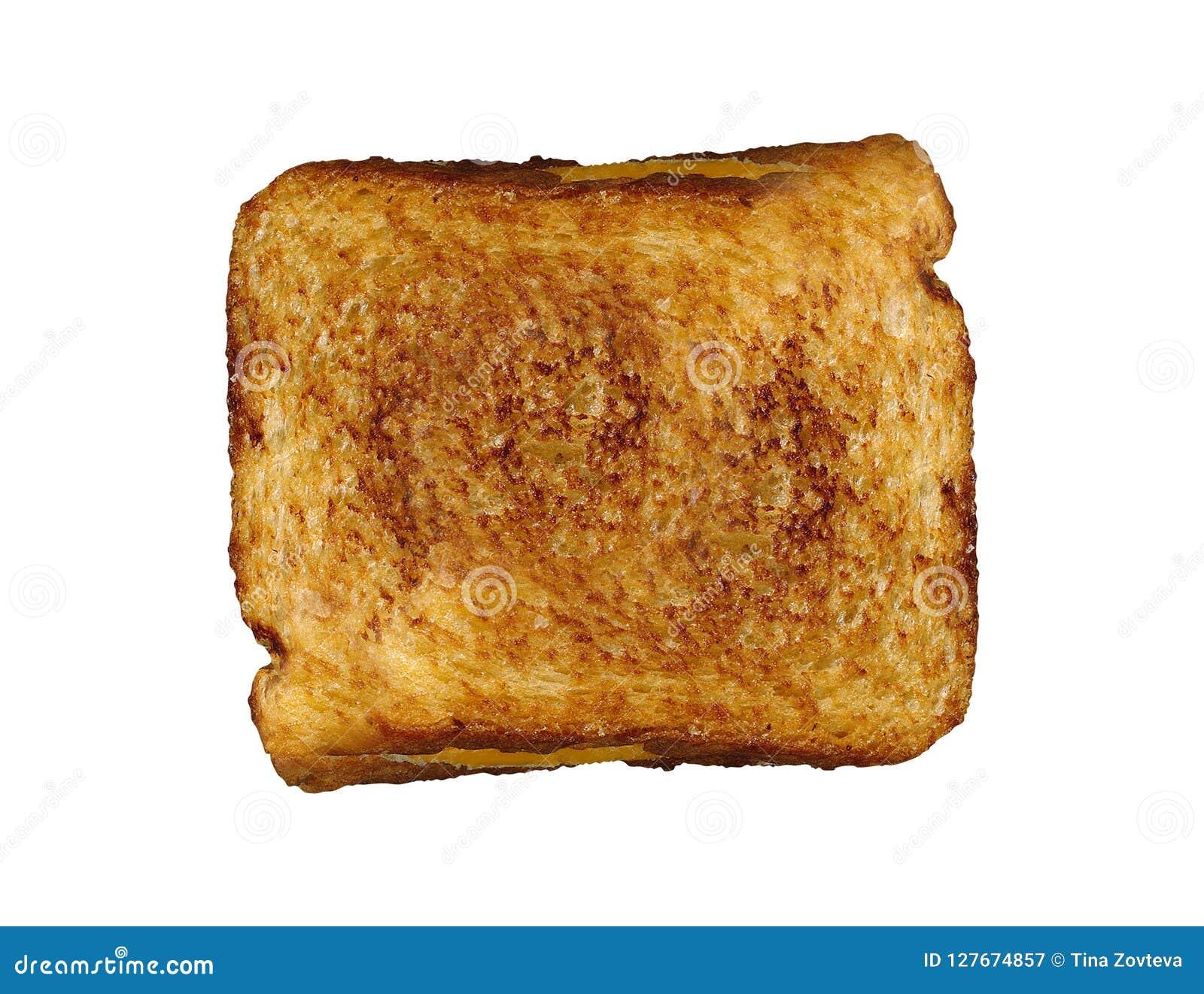 Sandwitch de pain grillé de fromage d isolement