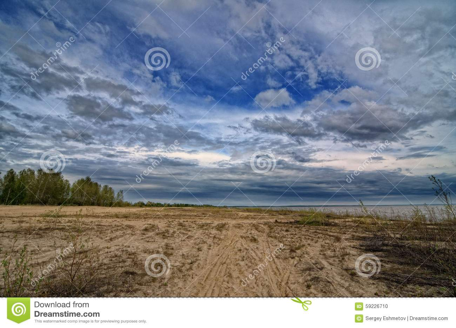 Download Sandy Beach foto de archivo. Imagen de aire, campo, outdoors - 59226710