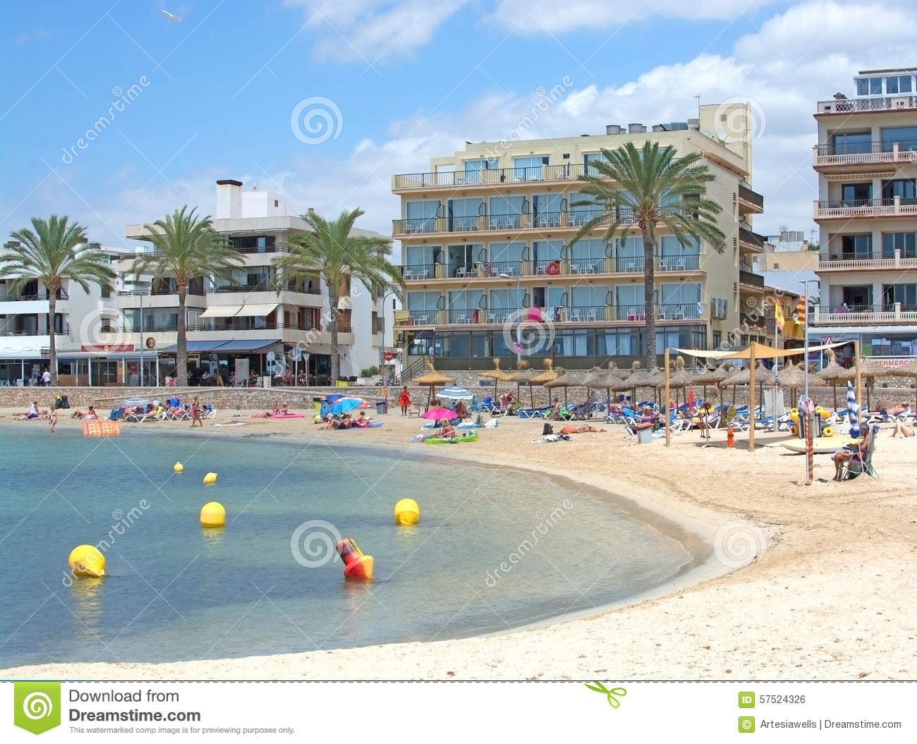 Sandy Beach At Cala Estancia Editorial Photo - Image: 57524326
