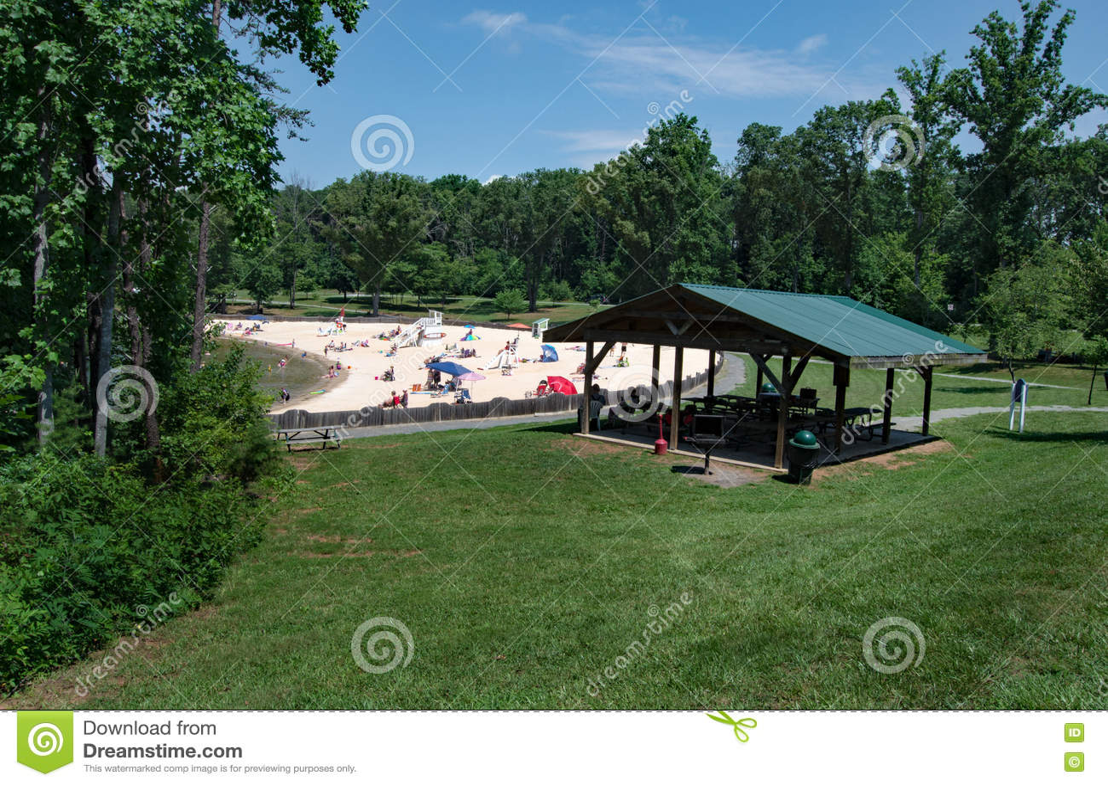 Sandy Beach at a Community Park