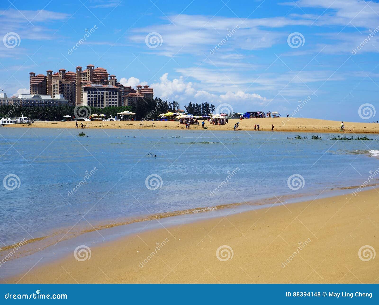 sandy beach in haikou hainan island china stock photo image of