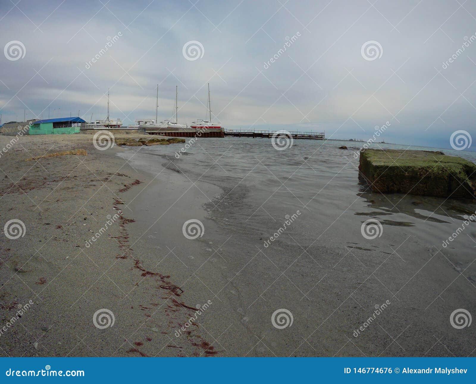Sandy coast of the Caspian Sea