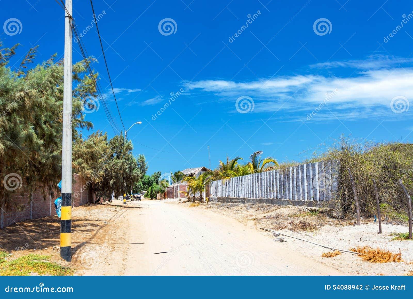 Sandy Road in Mancora, Peru