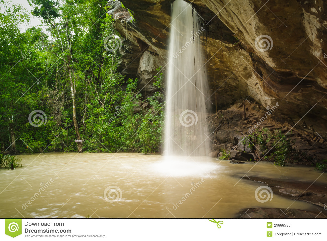 Chan Thailand  City pictures : Sang Chan Waterfall Thailand in Ubon Ratchathani.