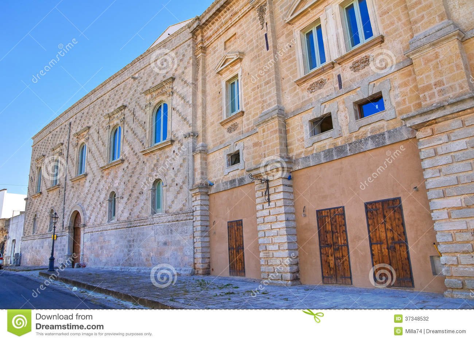 Sangiovanni slott. Alessano. Puglia. Italien.
