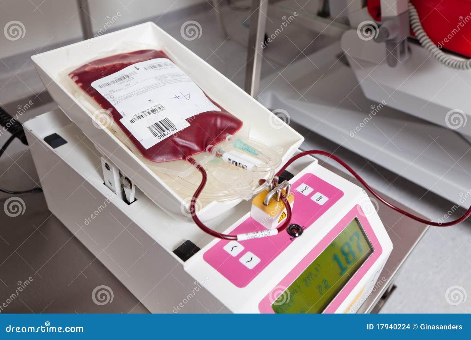 Sangre de las donaciones de sangre en laboratorio de la sangre