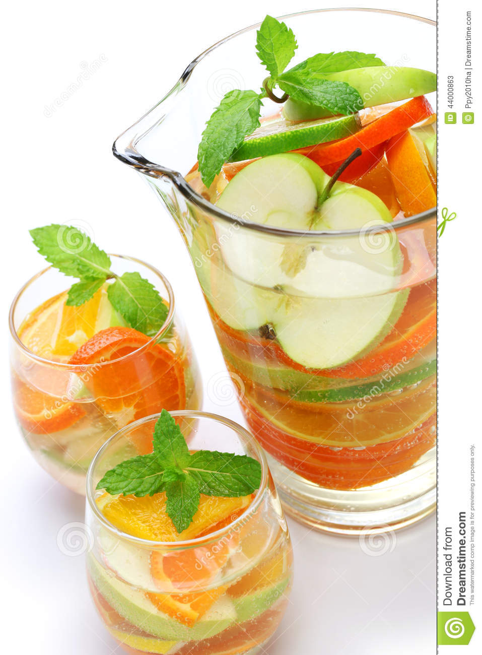 Sangria Blanca, White Sangria Stock Photo - Image: 44000863
