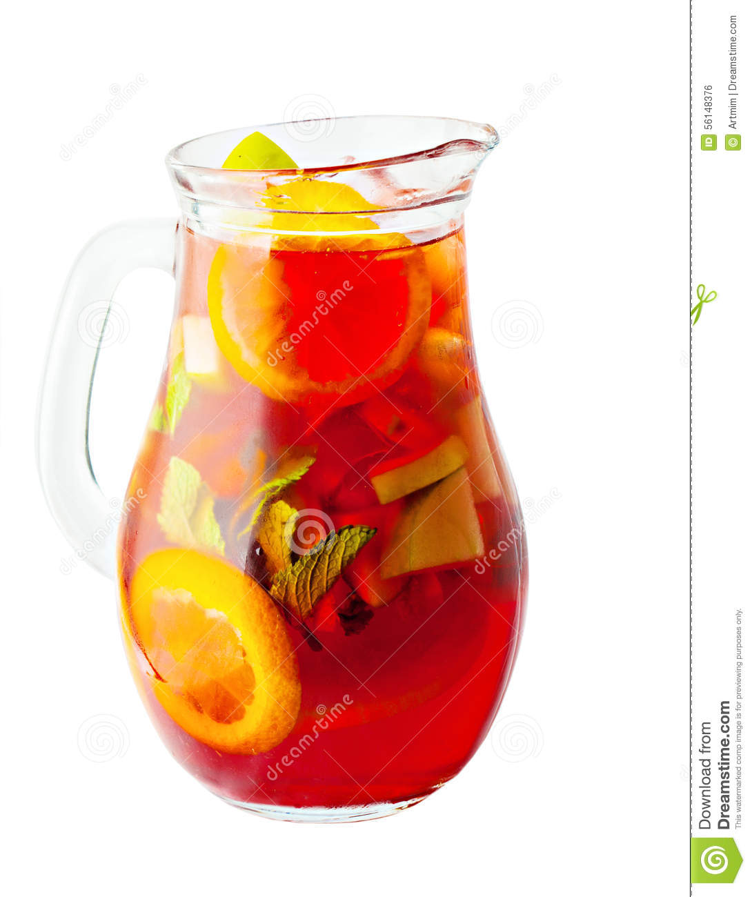 Sangria pitcher wine drink stock photo image 56148376 for Champagne drinks with fruit