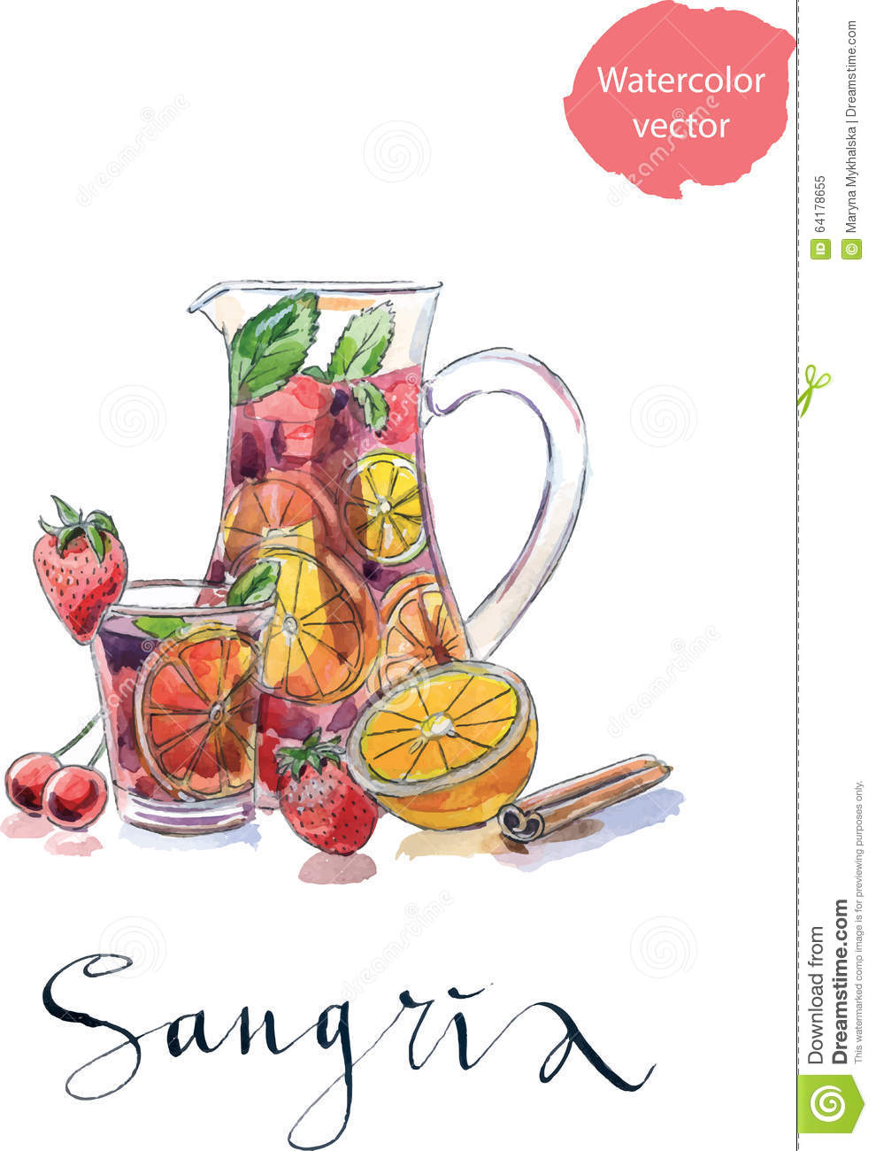 Sangria stock illustrations vecteurs clipart 521 for Clipart to download for free