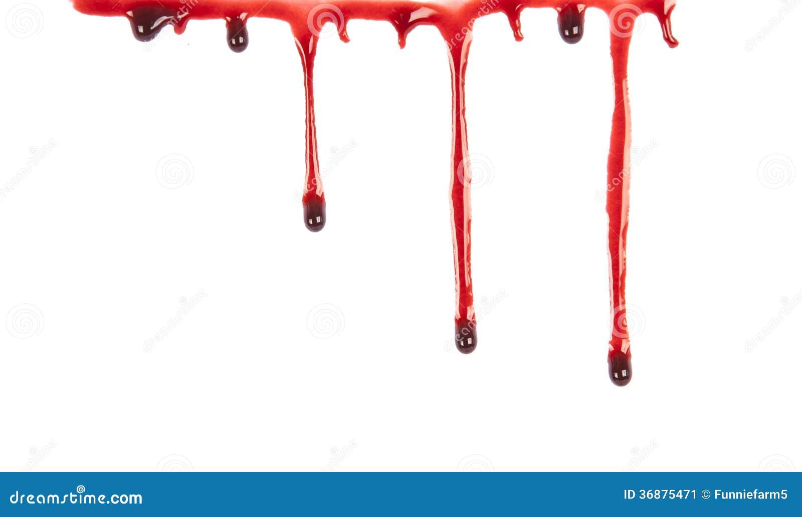 Download Sangue Della Sgocciolatura Isolato Su Bianco Illustrazione di Stock - Illustrazione di sporco, esplosione: 36875471