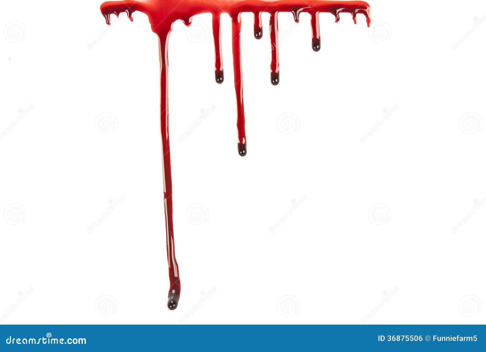 Download Sangue Della Sgocciolatura Isolato Su Bianco Illustrazione di Stock - Illustrazione di background, macabre: 36875506