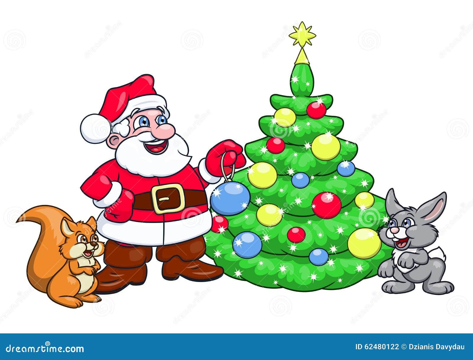 sankt die weihnachtsbaum 3 verziert vektor abbildung. Black Bedroom Furniture Sets. Home Design Ideas