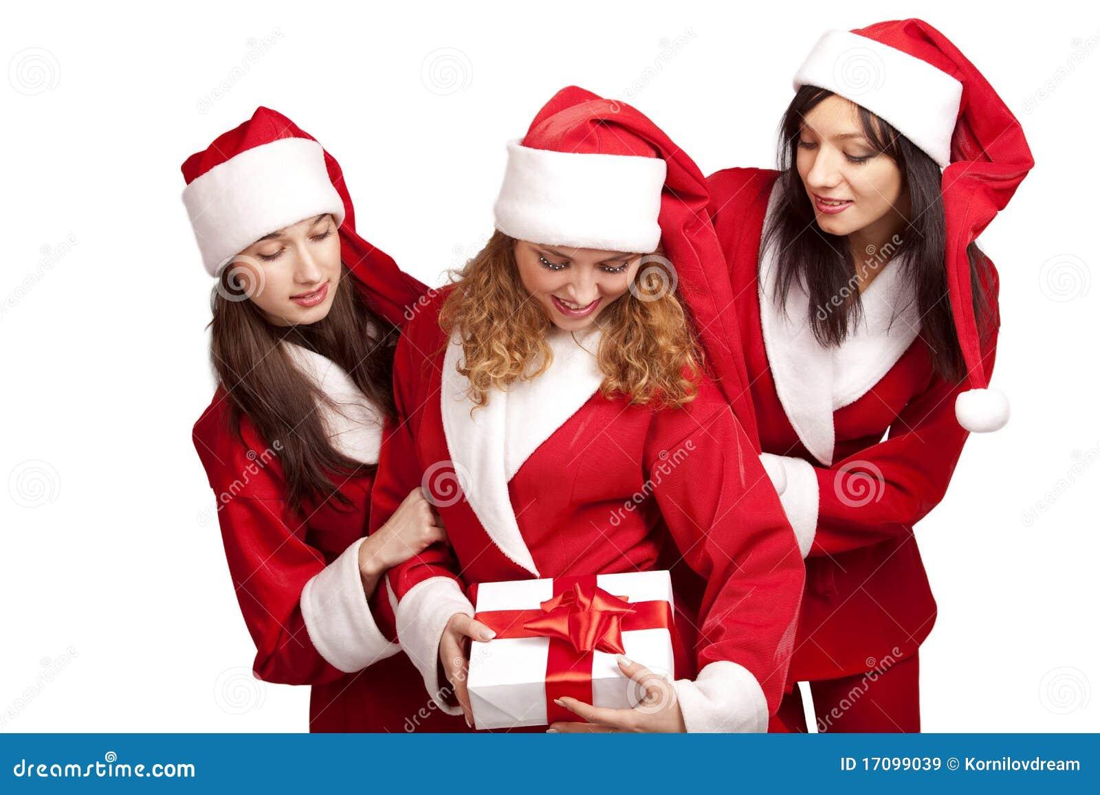 Sankt mit einem Geschenkkasten