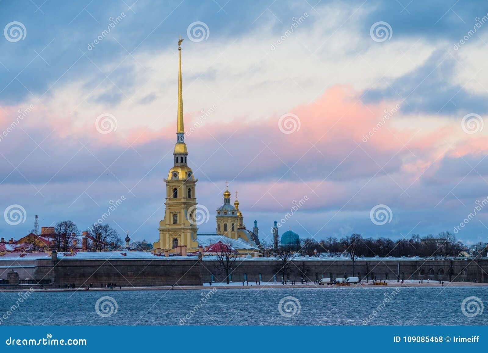 Sankt-Peterburg de winterlandschap