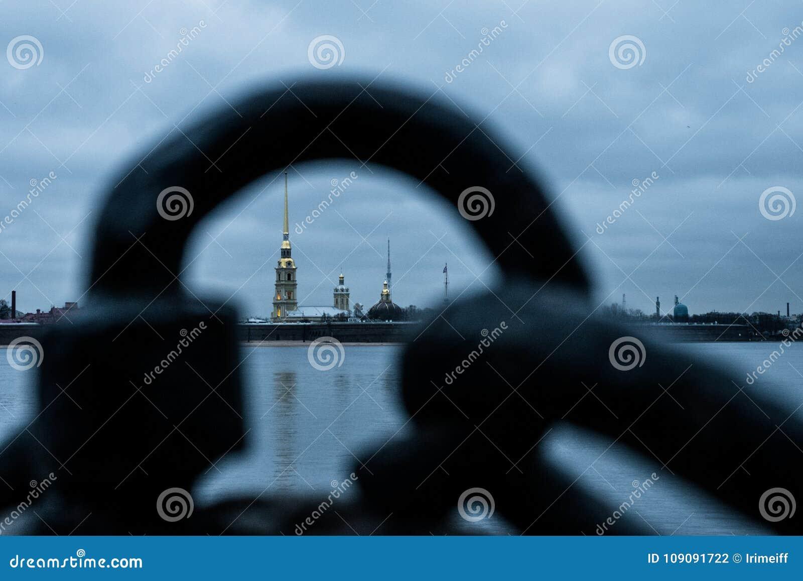 Sankt-Peterburg zimy krajobraz