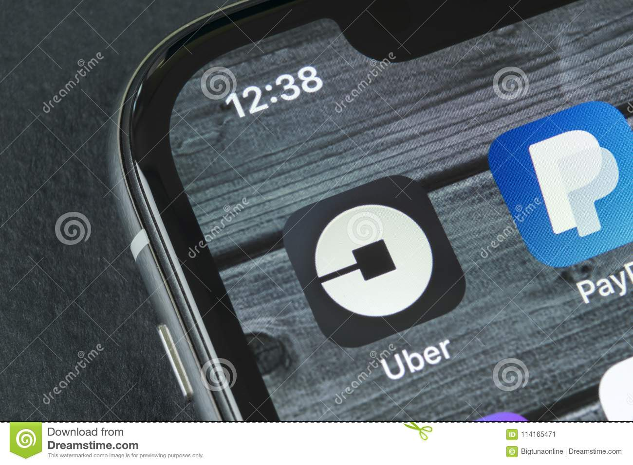 Uber Application Icon On Apple Iphone X Screen Close Up Uber App