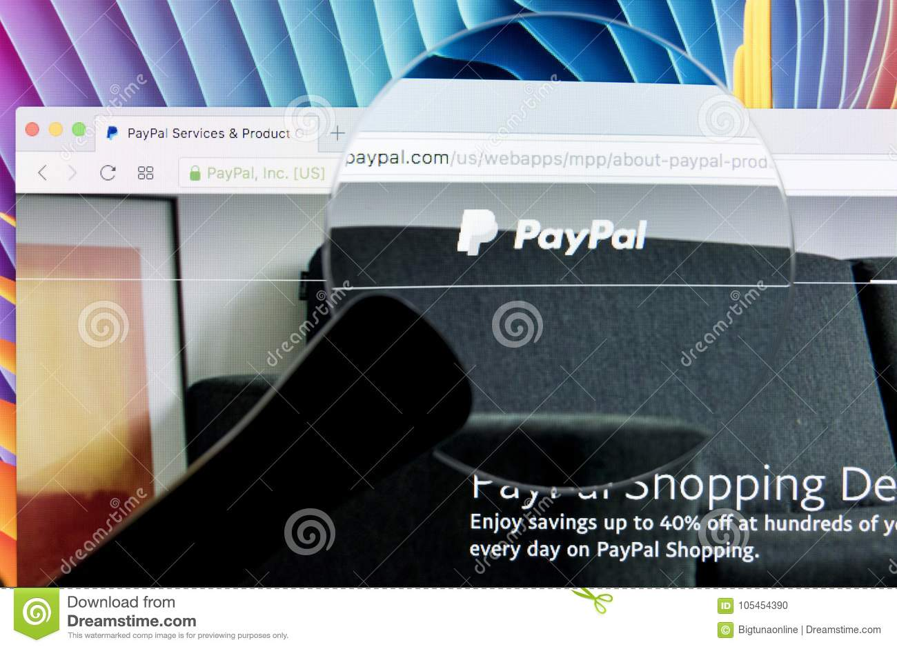 Paypal Website Homepage On A Apple IMac Monitor Screen Under