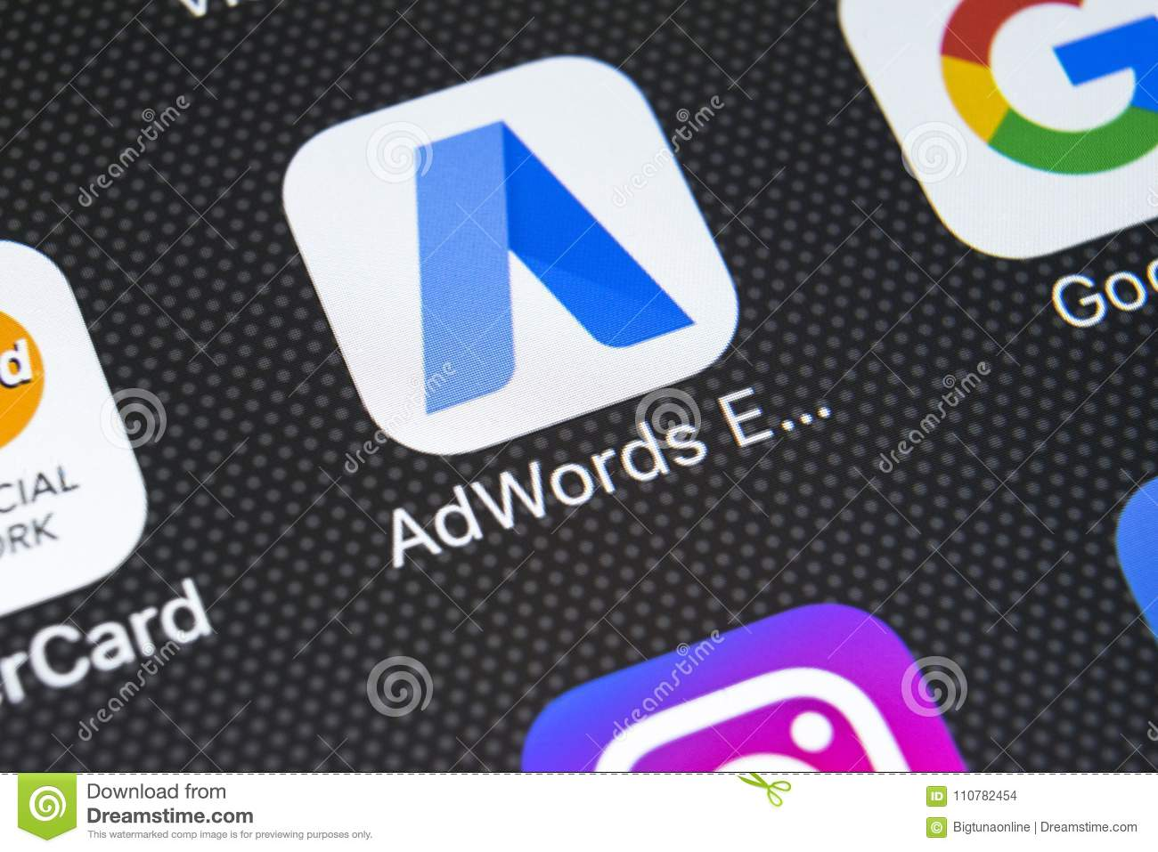 Google AdWords Express Application Icon On Apple IPhone X