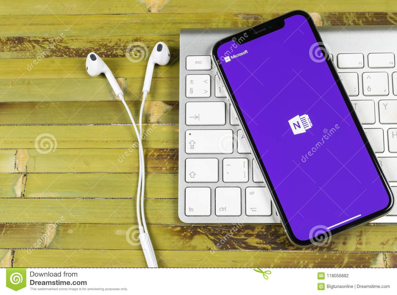 Microsoft OneNote Office Application Icon On Apple IPhone X