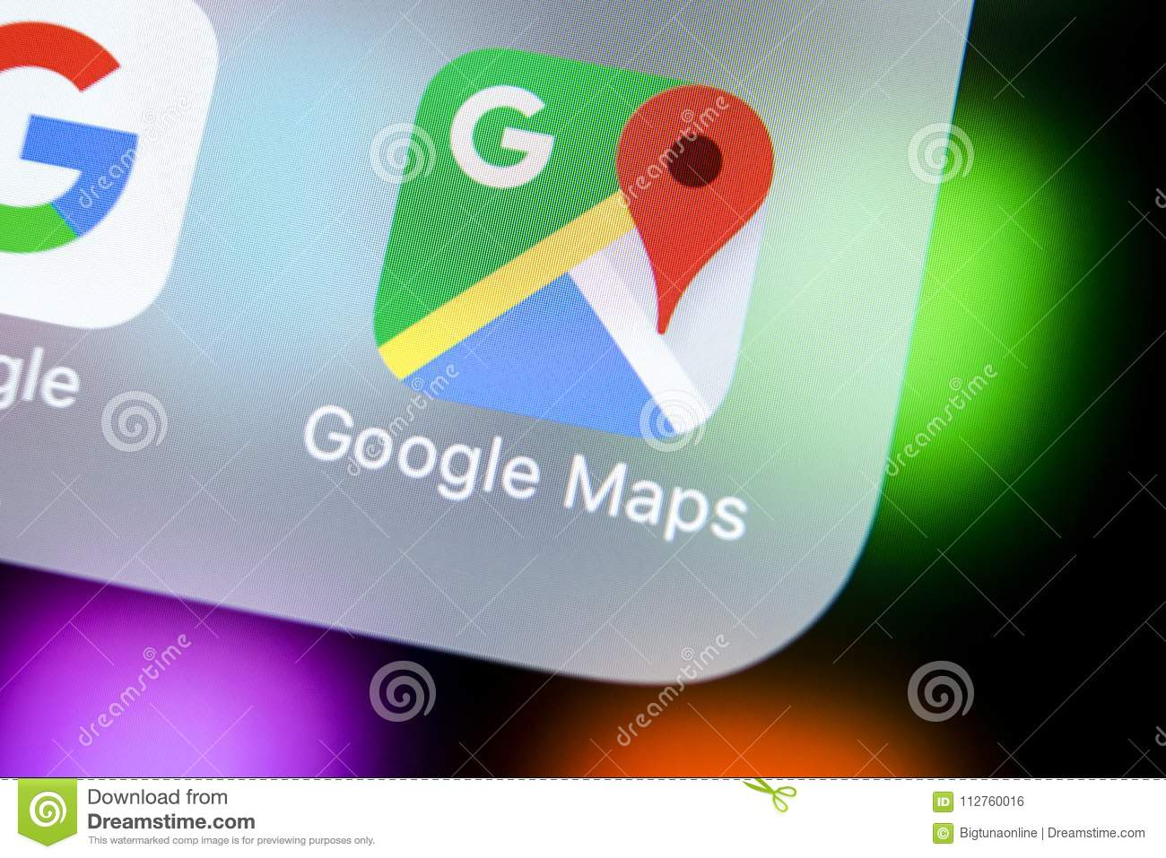Google Maps Application Icon On Apple Iphone X Screen Close Up