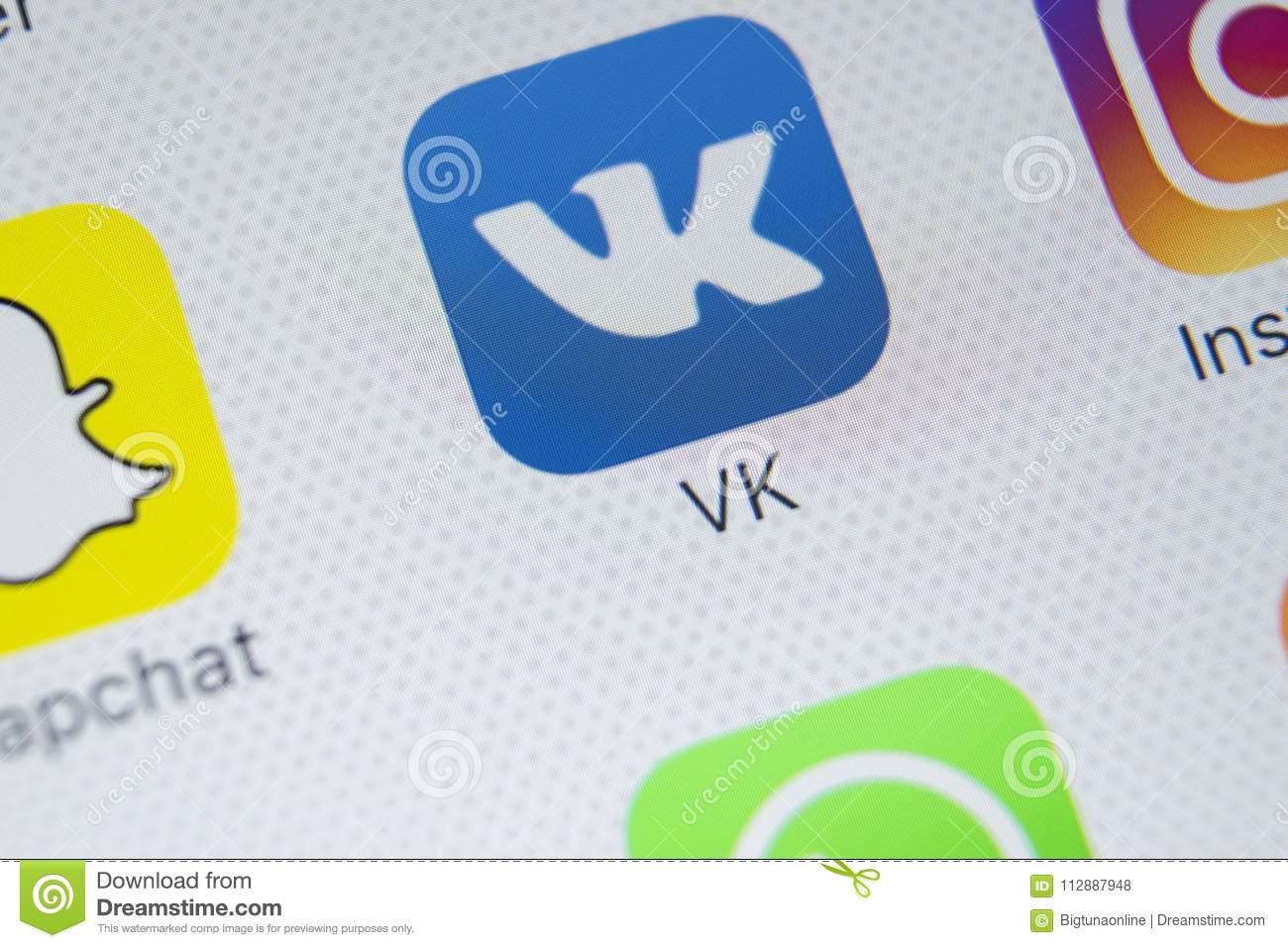 Vkontakte Application Icon On Apple IPhone X Screen Close-up  VK App