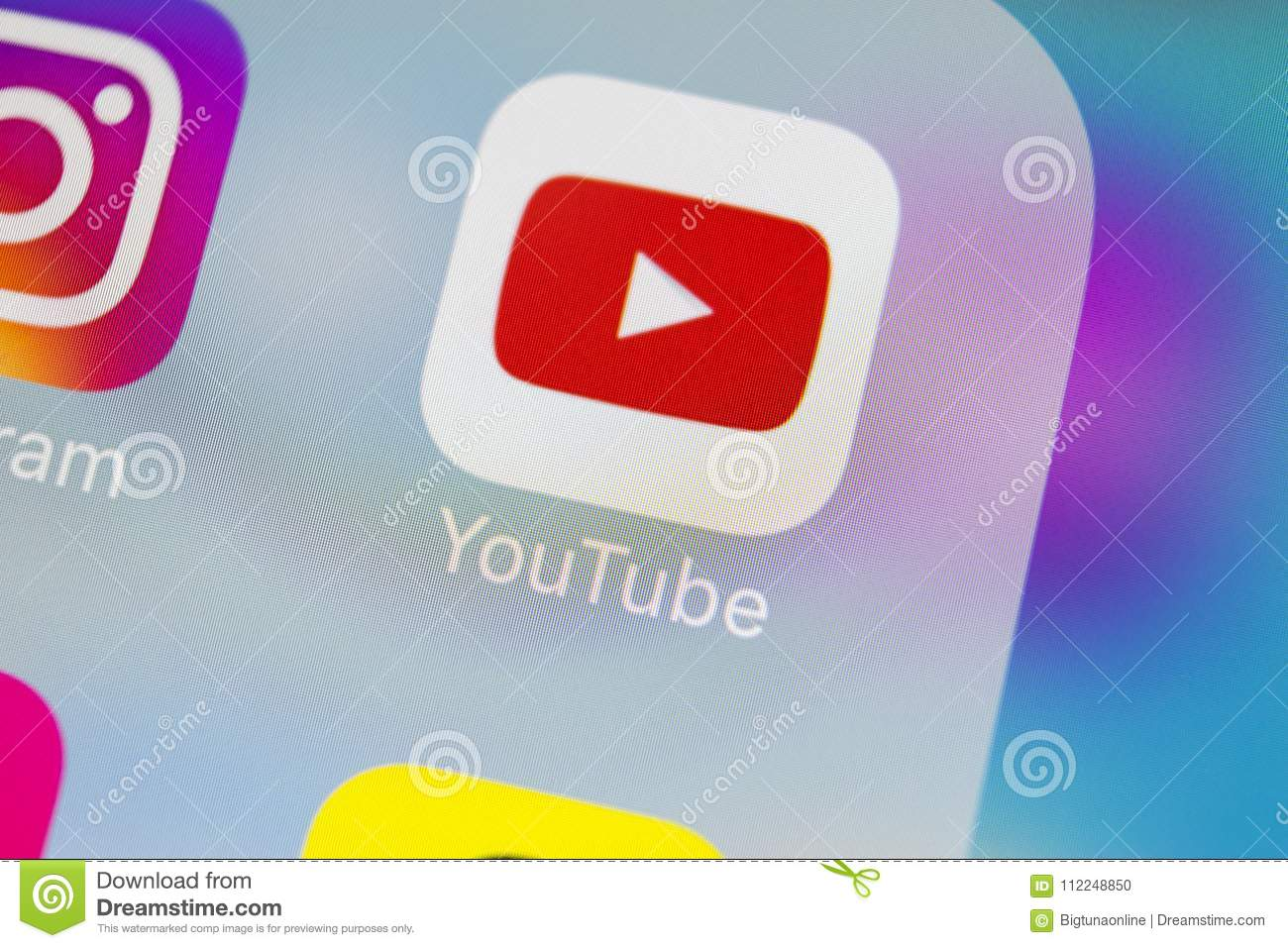YouTube Application Icon On Apple IPhone X Smartphone Screen Close