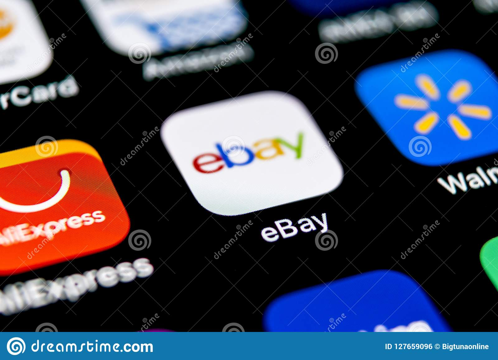 Ebay Application Icon On Apple Iphone X Screen Close Up Ebay App Icon Ebay Com Is Largest Online Auction And Shopping Websites Editorial Photo Image Of Page Logo 127659096