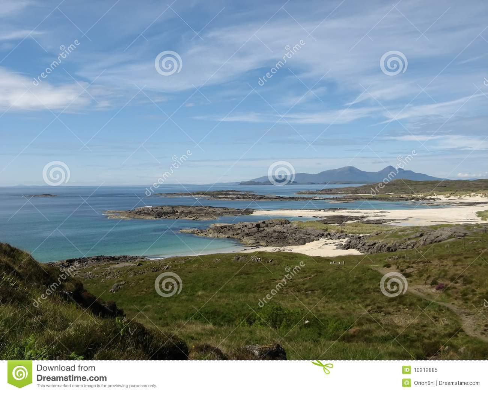 Download Sanna Bay stock image. Image of sand, white, sanna, scotland - 10212885