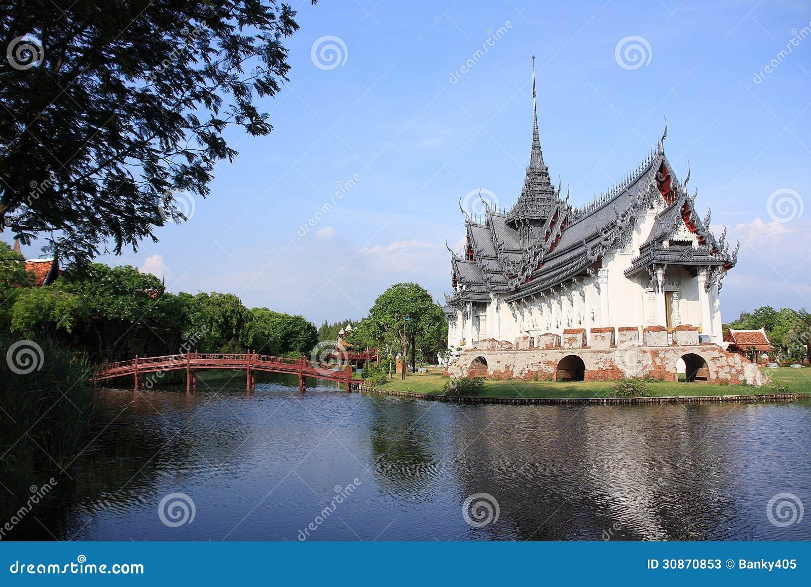 Sanphet Prasat Palace, Ancient City, Bangkok, Thai Stock ...