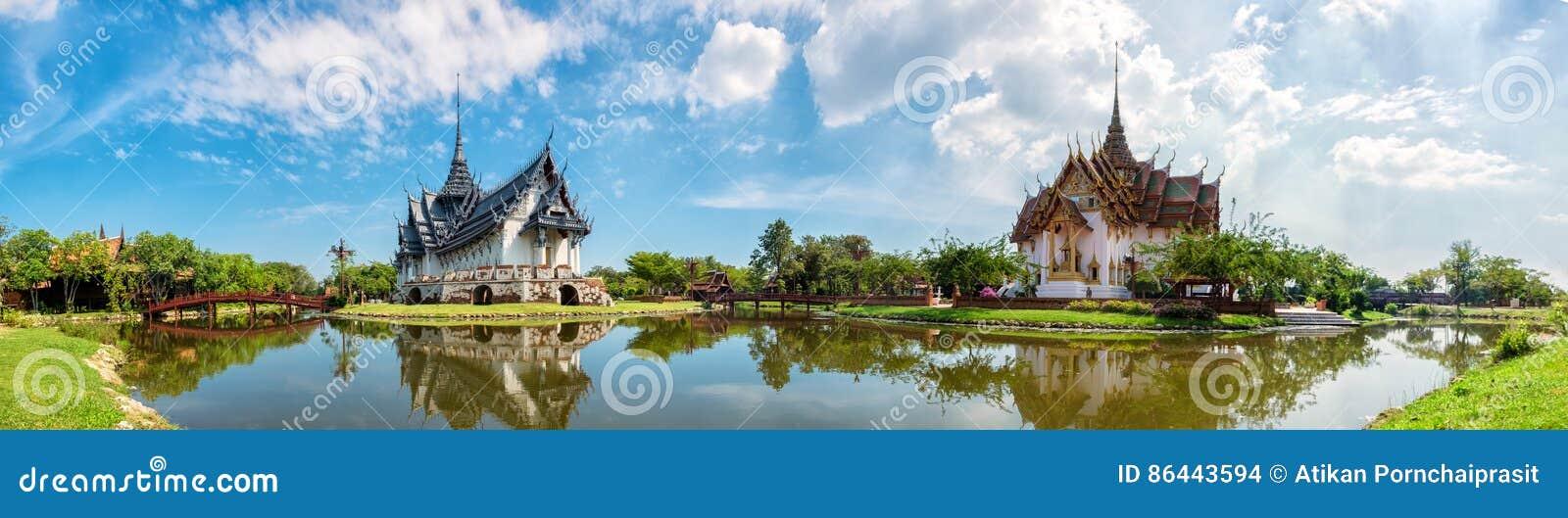 Sanphet Prasat slott, forntida stad, Bangkok,