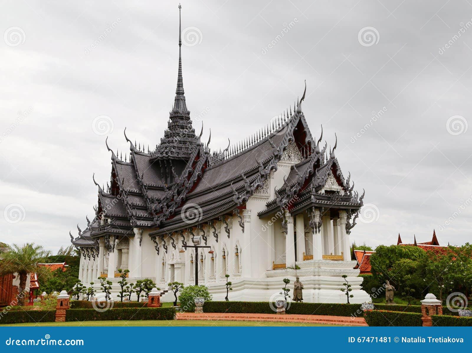 Sanphet Prasat slott, forntida stad, Bangkok, Thailand