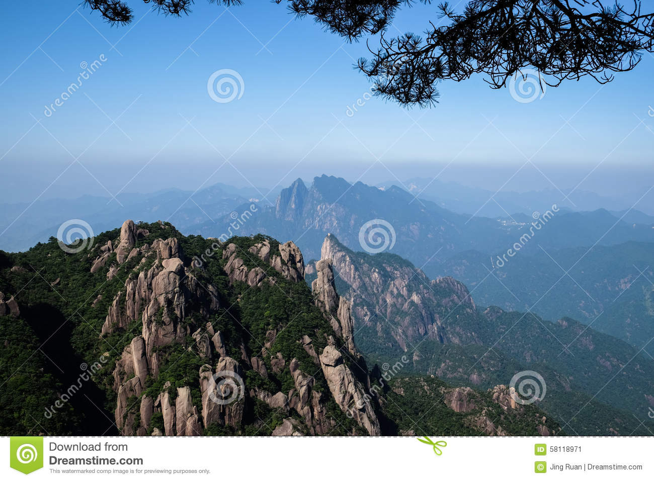 Shangrao China  city pictures gallery : Sanqingshan Mountains, Shangrao Jiangxi Province of China.