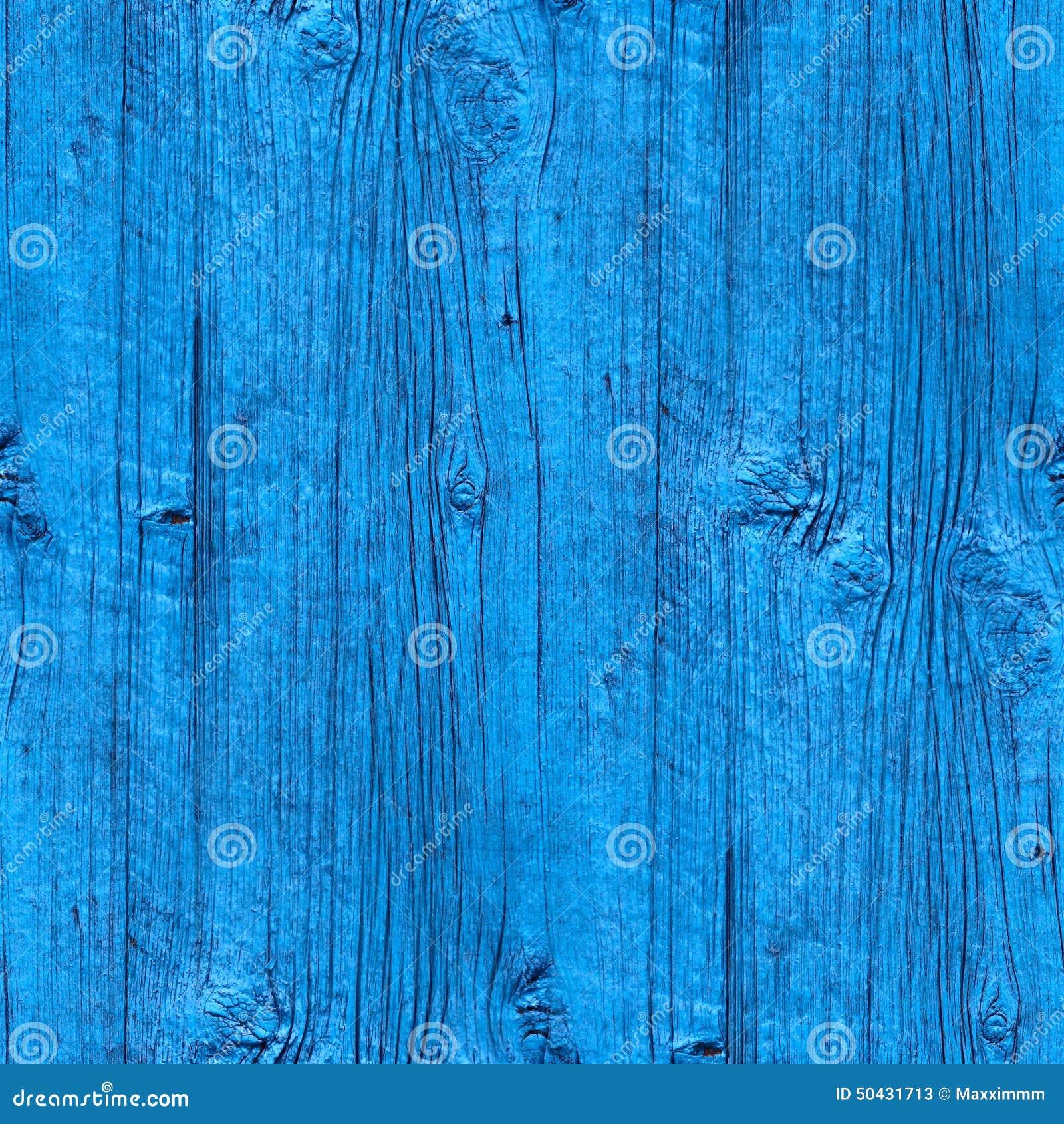 Sans Couture Papier Peint Bleu De Barrière En Bois De