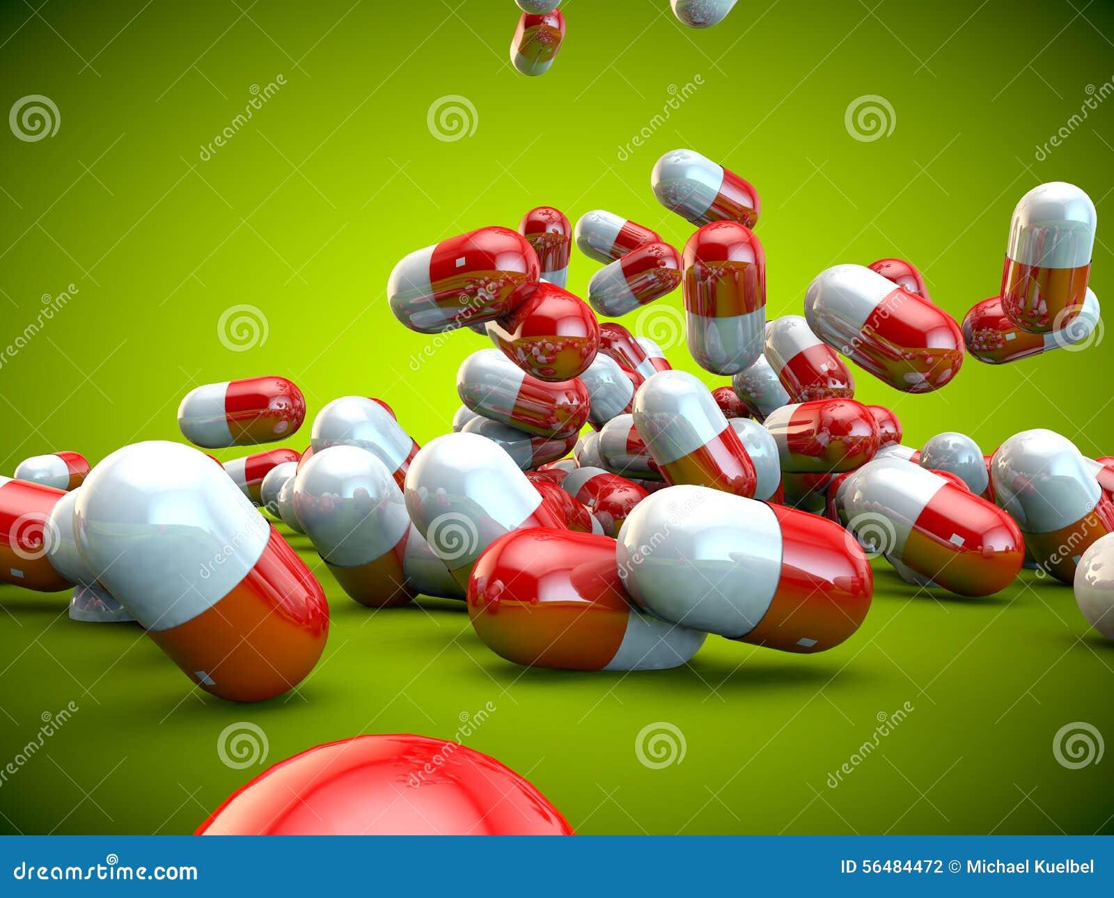 Santé de maladie de médecine de capsules de pilules de pilule